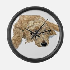Goldendoodle Stella Large Wall Clock