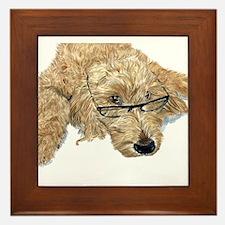 Goldendoodle Framed Tile
