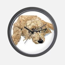 Goldendoodle Stella Wall Clock