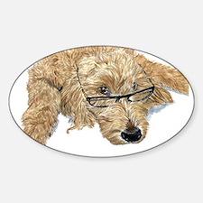 Goldendoodle Stella Sticker (Oval)