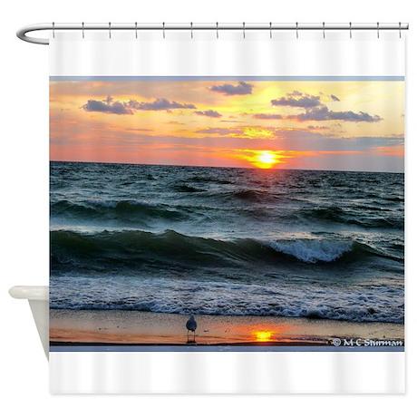 Sunset! Beautiful Photo! Shower Curtain