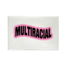 Multiracial Pride Rectangle Magnet (100 pack)