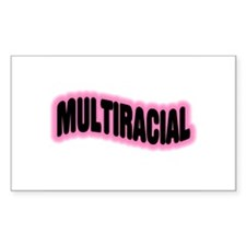 Multiracial Pride Rectangle Decal
