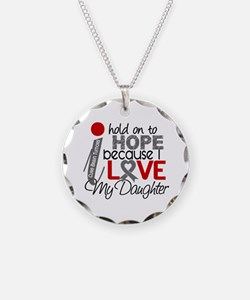 I Hold On To Hope Brain Tumor Necklace