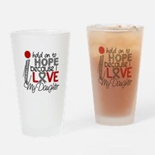 I Hold On To Hope Brain Tumor Drinking Glass