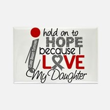 I Hold On To Hope Brain Tumor Rectangle Magnet