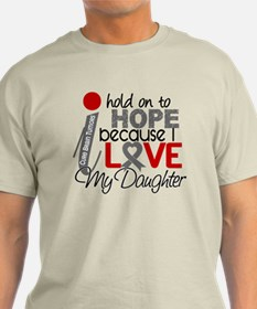 I Hold On To Hope Brain Tumor T-Shirt