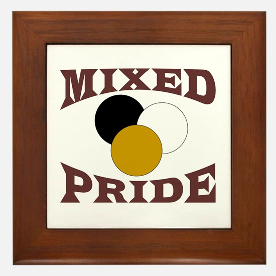 Mixed/ Multiracial Pride Framed Tile