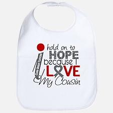 I Hold On To Hope Brain Tumor Bib