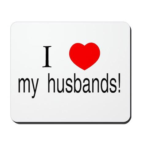 I <3 my husbands Mousepad