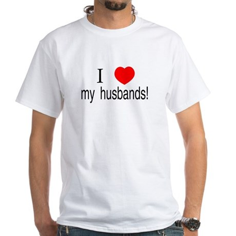I <3 my husbands White T-Shirt