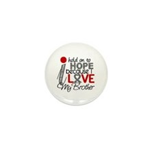 I Hold On To Hope Brain Tumor Mini Button (10 pack