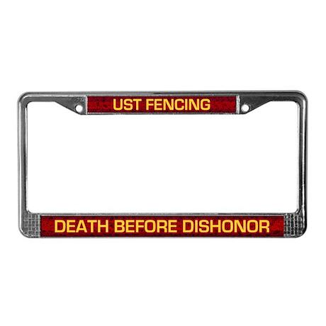 UST Fencing License Plate Frame