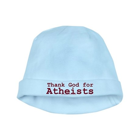 Thank God for Atheists baby hat