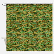 Woodland Gunouflage Shower Curtain
