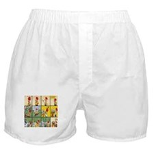 Trouble Full Comic Board Boxer Shorts