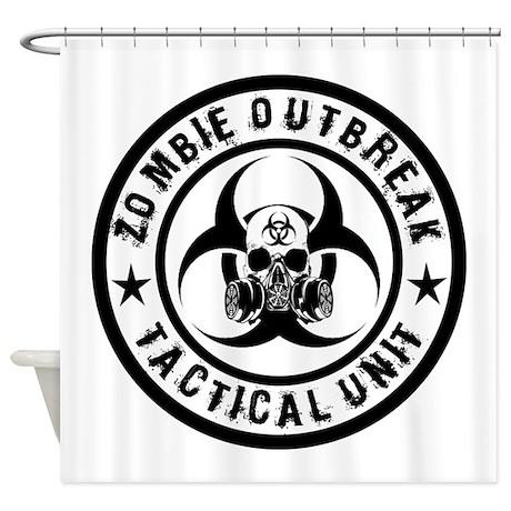 Zombie Outbreak Tactical unit Shower Curtain