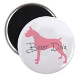 Diamonds Boxer Diva Magnet
