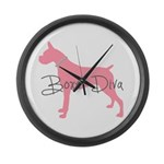 Diamonds Boxer Diva Large Wall Clock