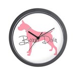 Diamonds Boxer Diva Wall Clock