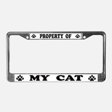 Property of My Cat License Plate Frame