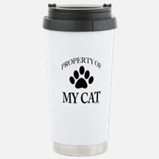 Property of My Cat Stainless Steel Travel Mug