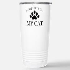 Property of My Cat Travel Mug