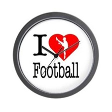 I Love Football Wall Clock