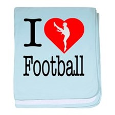 I Love Football baby blanket