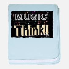 think music baby blanket