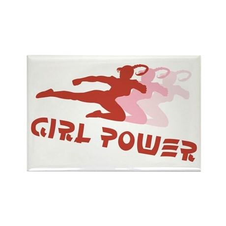 Martial Arts Girl Power Rectangle Magnet