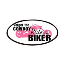 Forget the Cowboy, Ride a Biker Patches