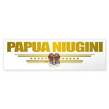 """""""Papua New Guinea Flag"""" Bumper Sticker"""