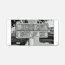Cute Florida horse Aluminum License Plate