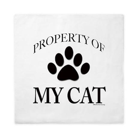 Property of My Cat Queen Duvet