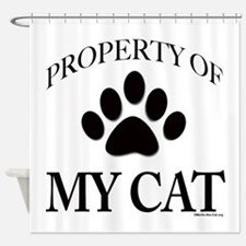 Property of My Cat Shower Curtain