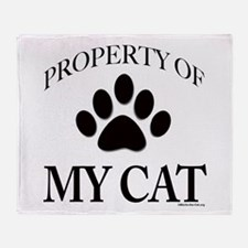 Property of My Cat Throw Blanket