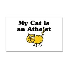 Cat is an Atheist Car Magnet 20 x 12