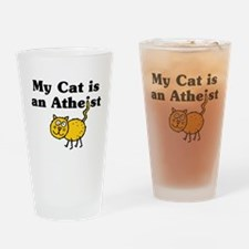 Cat is an Atheist Drinking Glass