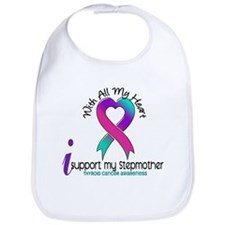 With All My Heart Thyroid Cancer Bib