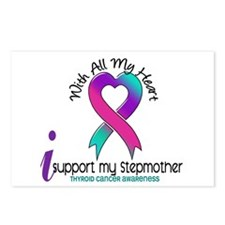 With All My Heart Thyroid Cancer Postcards (Packag