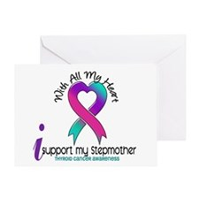 With All My Heart Thyroid Cancer Greeting Card