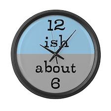Approximate Clock. Large Wall Clock