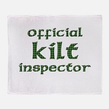Official Kilt Inspector Throw Blanket