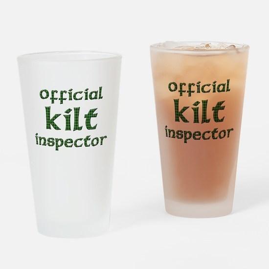 Official Kilt Inspector Drinking Glass
