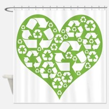 Green Heart Recycle Shower Curtain