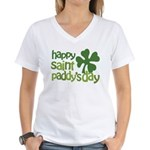 Happy St. Paddy's Day Women's V-Neck T-Shirt