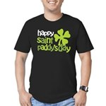 Happy St. Paddy's Day Men's Fitted T-Shirt (dark)