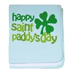 Happy St. Paddy's Day baby blanket