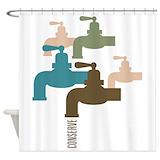 Faucet Shower Curtains